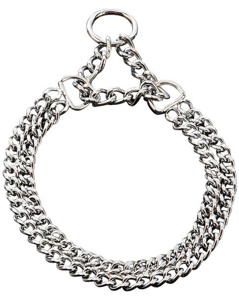 Halskette chrom 2-reihig