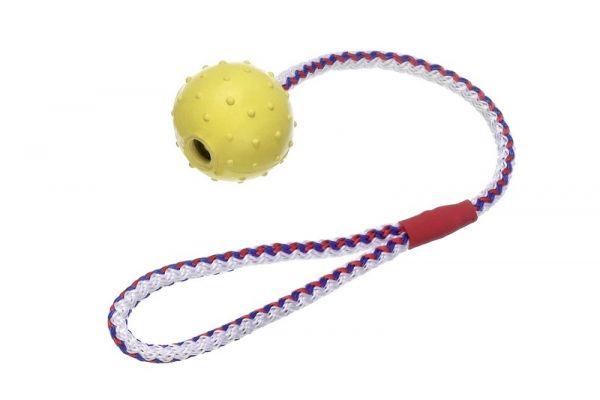 Boomer Vollgummi Ball mit Glocke und Seil
