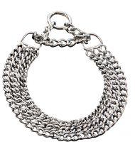 Halskette 3-reihig chrom