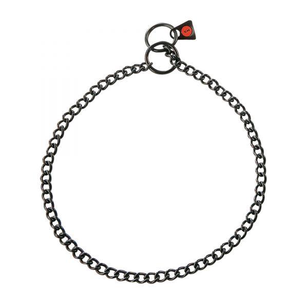 Halskette Edelstahl, schwarz, 2,0 mm