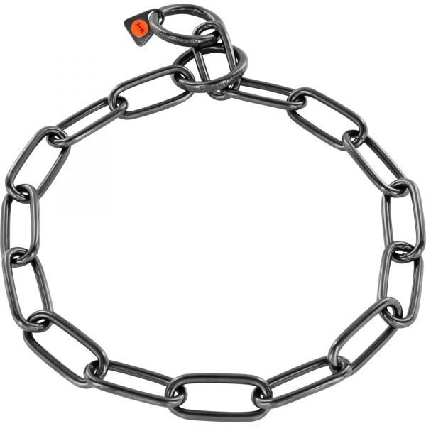Halskette Edelstahl, schwarz, 4,0 mm, langgliedrig