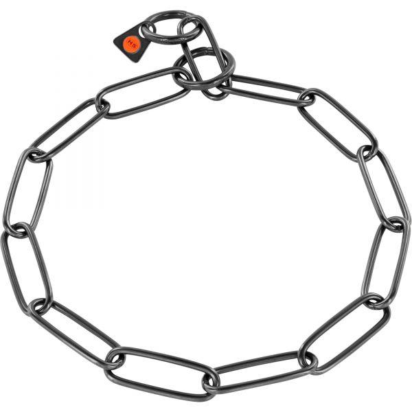 Halskette Edelstahl, schwarz, 3,0 mm, langgliedrig